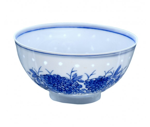 Small Blue and White Porcelain Bowl